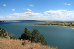 Angostura Lake--picture courtesy of http://gfp.sd.gov/state-parks/directory/angostura/.