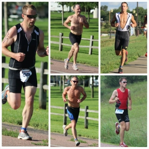Clockwise from the left are SDTA top five men with winner Matt Decker, 2nd place Kevin Mitchell, 3rd place Joel Greve, 5th Michael Martin, and 4th place Lance Bergeson.