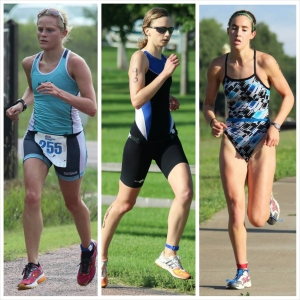 Emily Satter, Barb Wehde, and Hanna Wahl topped the podium of the womens 29-under division.