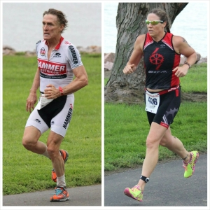 Native ironman Gregory Taylor and Texan Cristina Thibodeaux took first place at Yankton's Best Tri this Saturday.