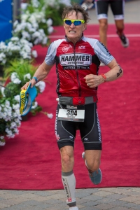 South Dakota's own Greg Taylor guts it out and wins his age group at the 2014 Ironman 70.3 World Championship.