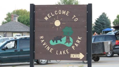 ravine lake sign
